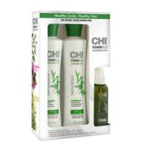 Maitinamasis CHI Power Plus Nourish rinkinukas plaukams 355x355ml + 104ml