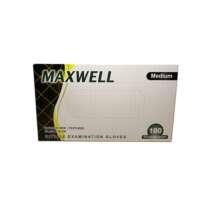 Nitrilo pirštinės be pudros plaukų dažymui Maxwell Powder Free Nitrile Examination Gloves Black 100 vnt. M