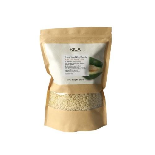 Braziliškas vaškas su avokado sviestu plėvele degtomis granulėmis Rica Brazilian Wax Beads 800g