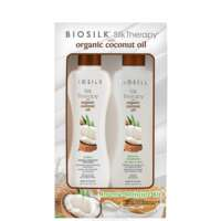 Rinkinys plaukams Biosilk Silk Theraphy with Organic Coconut Oil 2x167ml