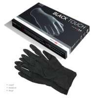 Juodos lateksinės pirštinės Hercules Sagemann Black Touch 10 Gloves S dydis