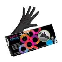 Pirštinės plaukų dažymui Framar Black Nitrile Mamba Gloves L 100vnt.