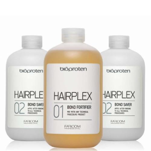 Palaikymo sistema techninių procedūrų metu Farcom Bioproten HAIRPLEX 3 X 525 ml