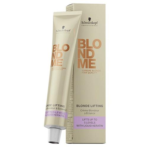 Saitus stiprinantis plaukų šviesinamasis kremas BlondMe Blonde Lifting 60ml