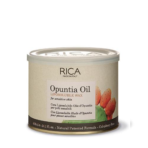 Vaškas su figvaisių vaisių aliejumi jautriai odai indelyje Rica Opuntia Oil Liposoluble Wax 400ml