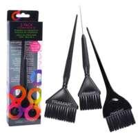 Šepetėliai plaukų dažymui Framar 3 Pack Coloring Brush Set 3vnt.