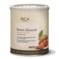 Vaškas su saldžiųjų migdolų ekstraktu jautriai odai indelyje Rica Sweet Almond Liposoluble Wax 800ml