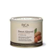 Vaškas su saldžiųjų migdolų ekstraktu jautriai odai indelyje Rica Sweet Almond Liposoluble Wax 400ml