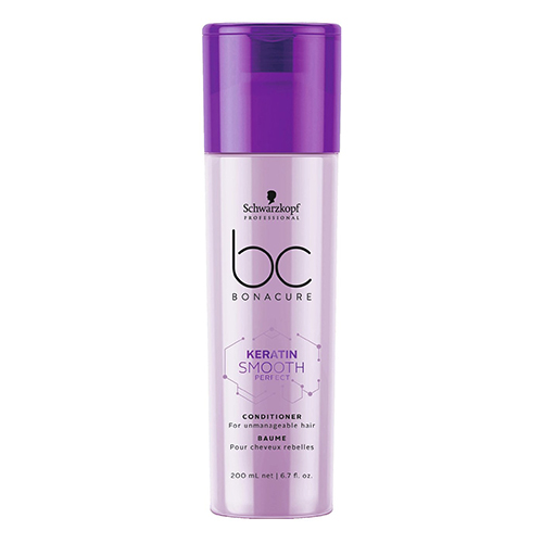 Kondicionierius nepaklusniems plaukams Schwarzkopf BC Keratin Smooth Perfect Conditioner 200ml