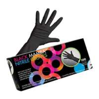Pirštinės plaukų dažymui Framar Black Nitrile Mamba Gloves M 100vnt.