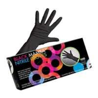 Pirštinės plaukų dažymui Framar Black Nitrile Mamba Gloves S 100vnt.
