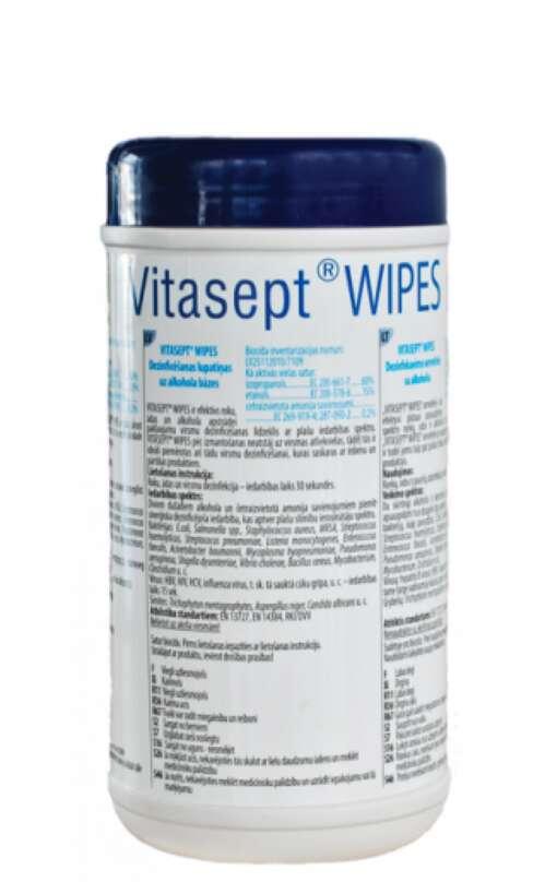 Dezinfekavimo servetėlės su alkoholiu Vitasept Wipes 120 vnt.
