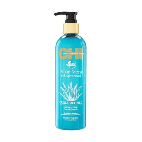 Plaukų kondicionierius garbanoriems plaukams CHI Aloe Vera Defined Curls Conditioner 340ml