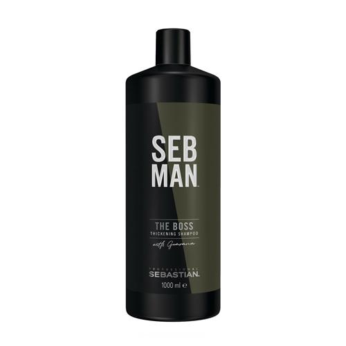 Plaukus tankinantis šampūnas Sebastian Professional SEB MAN The Boss Thickening Shampoo 1000ml