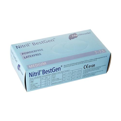 Nitrilinės pirštinės be pudros ir latekso Meditrade Nitril BestGen Powder Free Larex Free M 100 vnt.