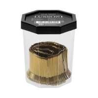 Segtukai plaukams auksiniai LUSSONI Hair Grips, 4 cm, 250 pcs, Golden Color