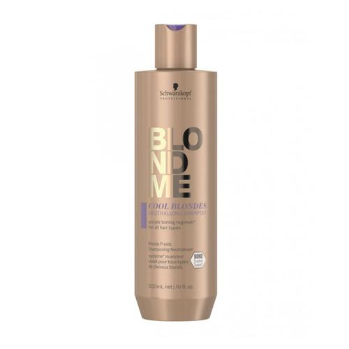 Neutralizuojantis šampūnas Schwarzkopf Blond Me Cool Blondes Neutralizing Shampoo 300ml