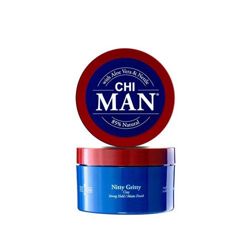 Stiprios fiksacijos plaukų modeliavimo molis CHI MAN Nitty Gritty Strong Hold Clay 85g