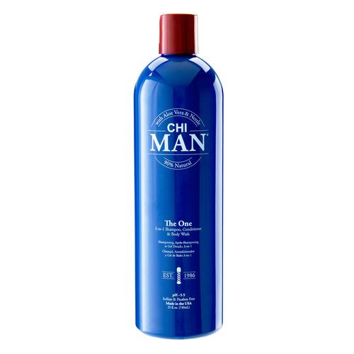Šampūnas, kondicionierius ir kūno prausiklis CHI MAN The One 3-in-1 Shampoo, Conditioner & Body Wash 739ml
