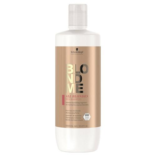 Maitinamasis šampūnas šviesintiems plaukams Schwarzkopf BlondMe All Blondes Rich Shampoo 1000ml